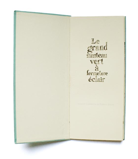 Le grand manteau vert, maquette de livre pour enfant. © Florence Boudet