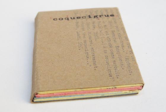 étui de la cartographie des transports dans Coquecigrue, utopie. dessin à la machine à écrire sur papier pelure. © Florence Boudet