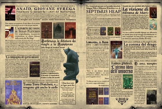 La Gazzetta di Salani, présentation des nouveautés en fantasy littéraire du catalogue des éditions Salani. © Florence Boudet