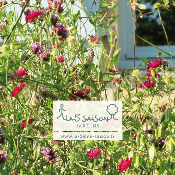 logo et identité pour la Cinquième saison, jardins, à Angers. © Florence Boudet