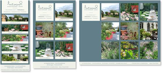 Site internet pour la Cinquième saison, jardins, à Angers. © Florence Boudet