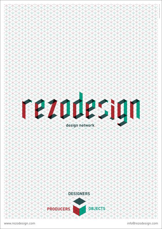 Affiche pour Rezodesign © Florence Boudet pour Cento per Cento