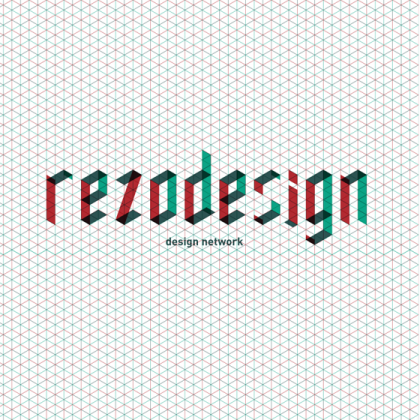 Logo et principe d'identité graphique pour rezodesign © Florence Boudet pour Cento per Cento