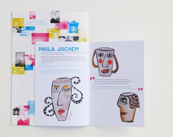 Cahier artistes du catalogue d'exposition de céramique à Shop Saman, Milan. Double format avec brochure agrafe. © Florence Boudet