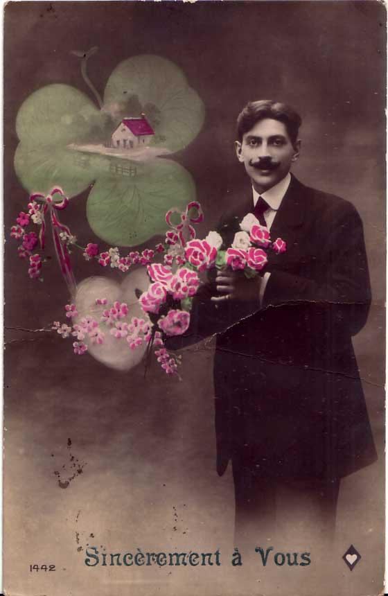 carte postale rétro kitsch