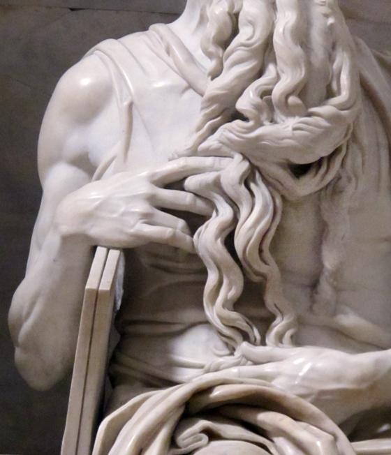 Détail statue de Moise par Michelangelo. photographie © Florence Boudet
