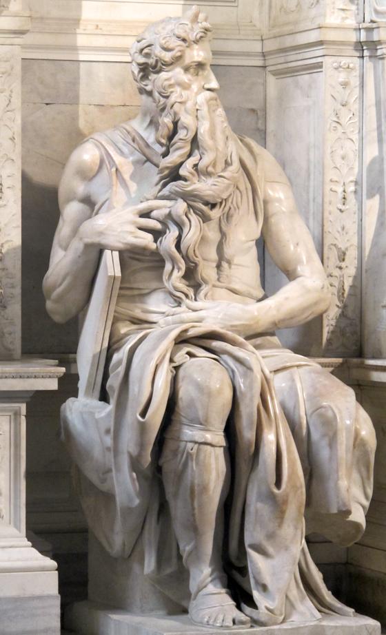 Rome, statue de Moise par Michelangelo. photographie © Florence Boudet