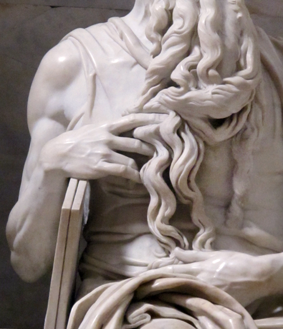 Florence Boudet - FLO-FLO - Rome - statue - Michelangelo - beard - Moses - detail - hand - wiseness - San Pietro in vincoli - marble - delicate - soft - strength