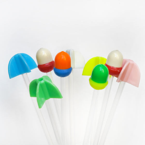 Florence Boudet - FLO-FLO - swizzle sticks - color - bright - cocktails - drink - summer - neon