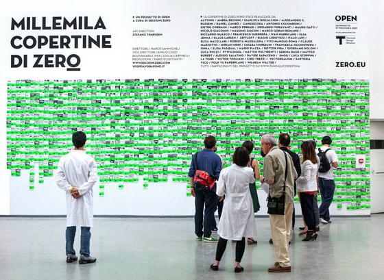 Mostra Millemila Copertine di Zero alla triennale di Milano.