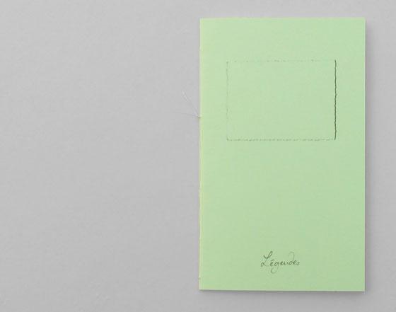 Légendes, Livre d'artiste. photographies anciennes oubliées. Couverture ©Florence Boudet