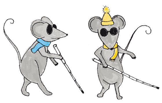 florence boudet - illustration - mouse - mice - blind - animal