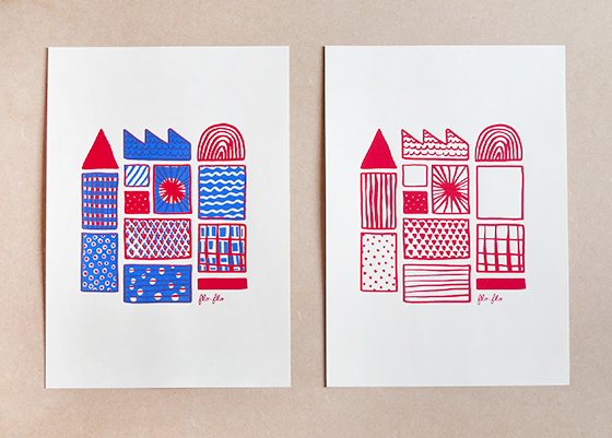 Fabrique. Sérigraphie en 1 et 2 passage couleur. © Florence Boudet