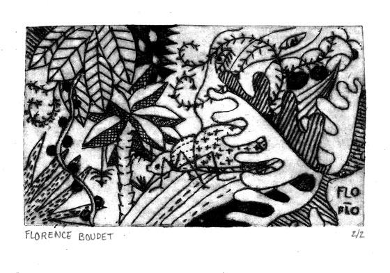 gravure sur Tetra pack - Florence Boudet
