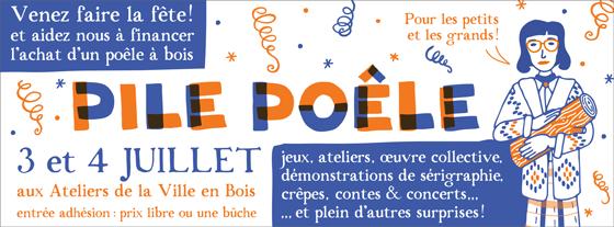 univers inspirée par la femme à la bûche (log lady) de Twin peaks, pour la communication de l'évènement Pile-poële aux ateliers de la ville en bois à Nantes. ©Florence Boudet