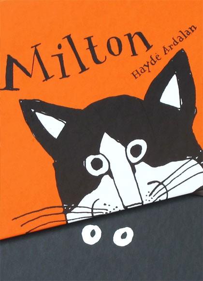 Lettrage de couverture de Io, Milton et Ma dove si è cacciato Milton ? par Haydé Ardalan publié chez Magazzini Salani. © Florence Boudet