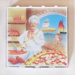 16 août 2015, une pizza saumon