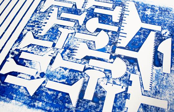 Résidence Papier/Machine : Impression des chutes des nouveaux outils d'écriture au Fablab, Plateforme C à Nantes. © Florence Boudet