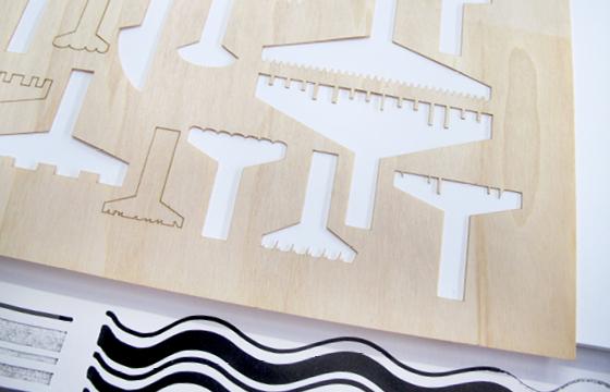 Résidence Papier/Machine : Usinage nouveaux outils d'écriture au Fablab, Plateforme C à Nantes. © Florence Boudet