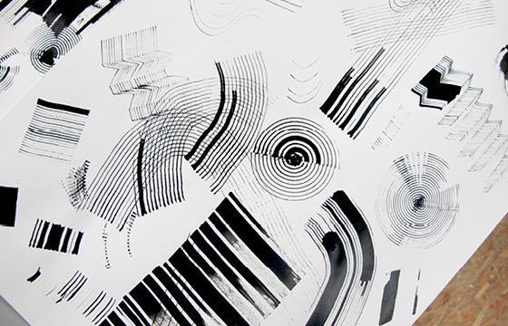 Résidence Papier/Machine : Tests nouveaux outils d'écriture au Fablab, Plateforme C à Nantes. © Florence Boudet