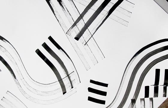 Résidence Papier/Machine : Tests outils d'écriture au fablab plateforme C à Nantes. © Florence Boudet