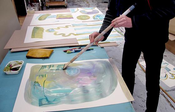 Résidence Papier/Machine : Test des nouveaux outils d'écriture au fablab plateforme C à Nantes. © Florence Boudet