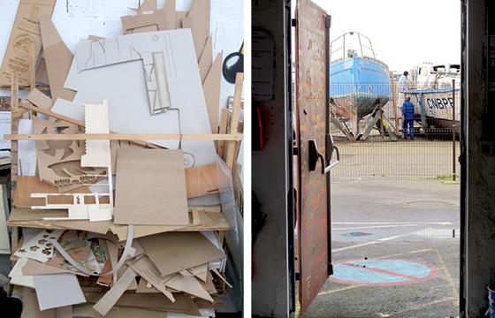 Résidence Papier/Machine : Vue du fablab plateforme C à Nantes. © Florence Boudet