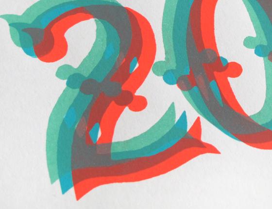 Carte de vœux 2016, sérigraphie trois couleurs © Florence Boudet