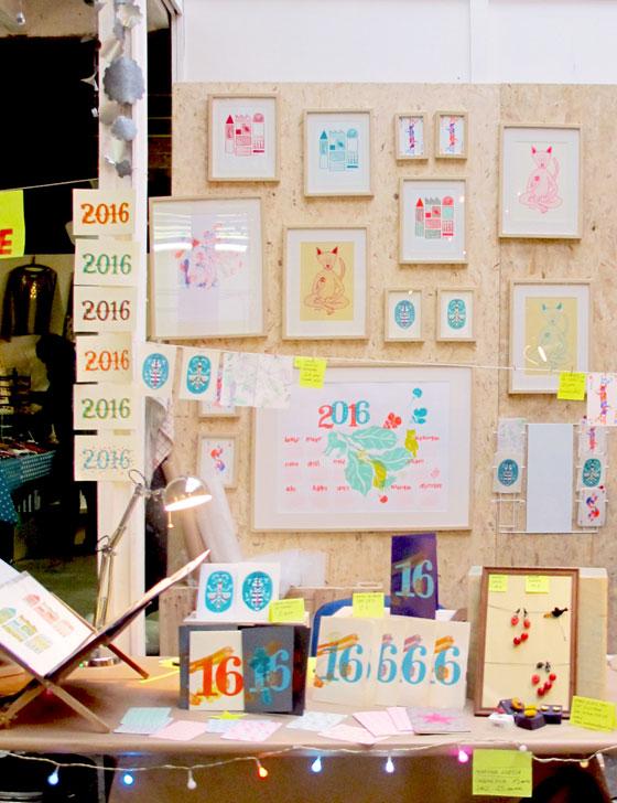 stand de Flo-Flo (Florence Boudet) au marché de noël des Ateliers de la Ville en bois, Nantes