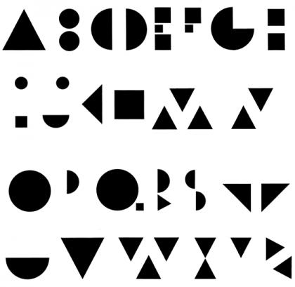 Système typographique géométrique. © Florence Boudet