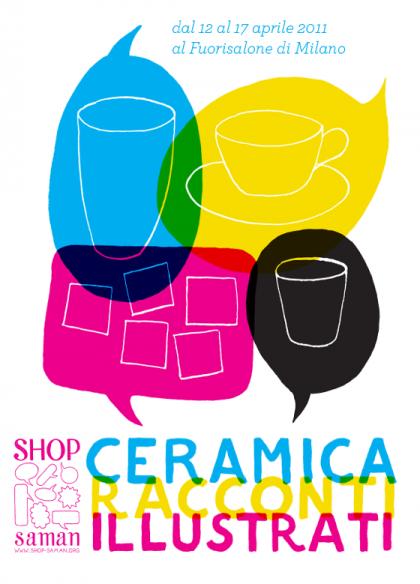 Visuel de couverture du catalogue d'exposition de céramique à Shop Saman, Milan. © Florence Boudet