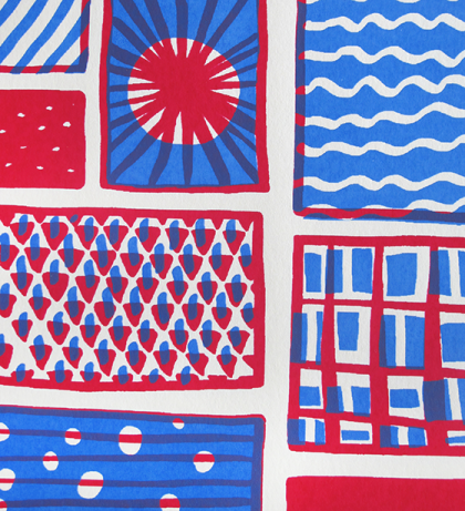 Fabrique. Sérigraphie en 2 passages couleur. © Florence Boudet