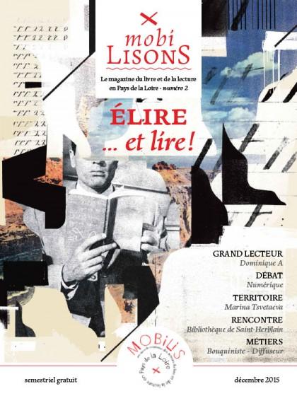 Magazine MobiLISONS numéro 2, semestriel publié par l'association Mobilis (Pôle régional des acteurs du livre et de la lecture en Pays de Loire), mis en page par Florence Boudet
